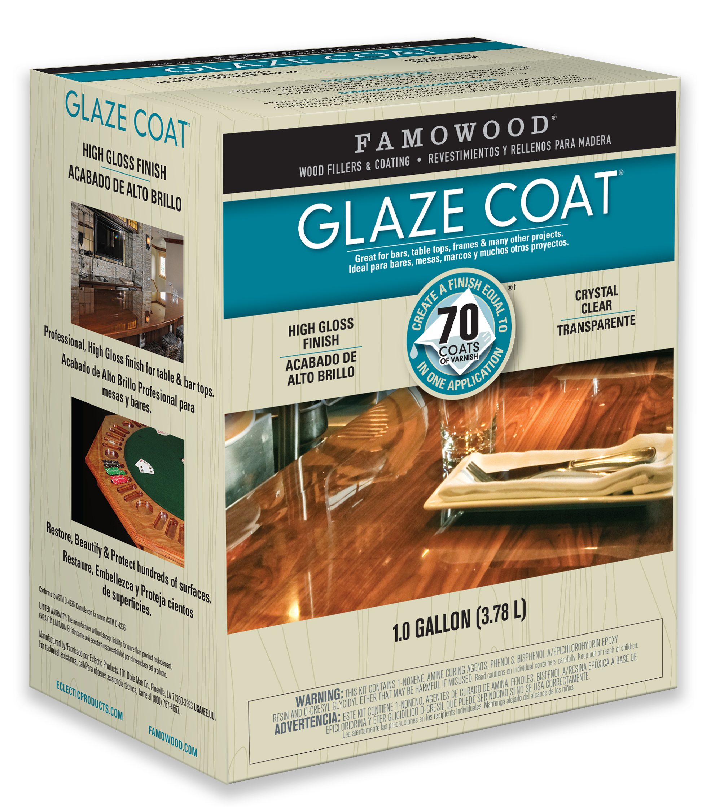 FAMOWOOD GLAZE COAT Epoxy Coating