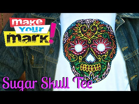 How to: Sugar Skull Tee, Allure Gloss, Stitchless