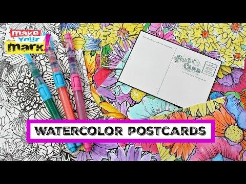 Beautiful Watercolor Postcards