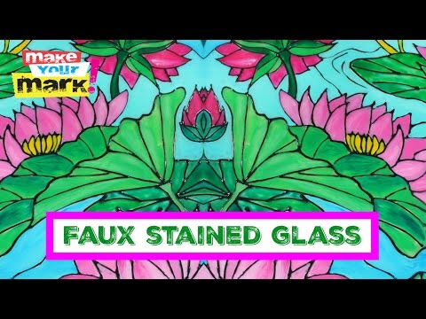 FAUX Stained Glass with ColorIt and UNICORN SPiT, Glaze Coat, Allure