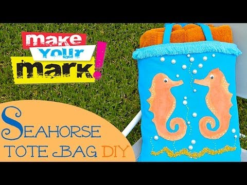 How to: Seahorse Tote Bag - E6000 Craft