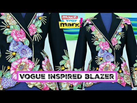 No-Sew Vogue Inspired Blazer - Fabri-Fuse, Allue Glitter, Metallic