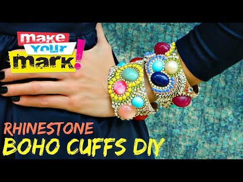 How to: Rhinestone Boho Cuffs