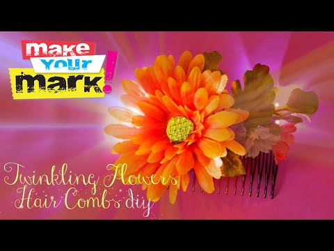 How to: Twinkling Flowers Hair Combs