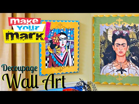 How to: Decoupage Wall Art