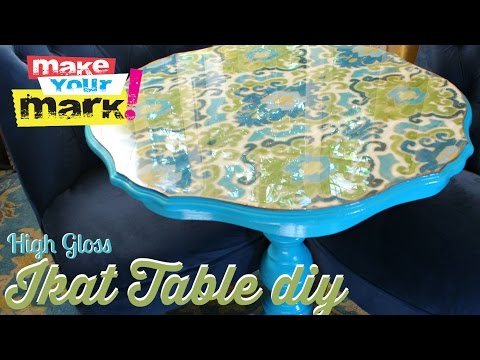 How to: High Gloss Ikat Table DIY
