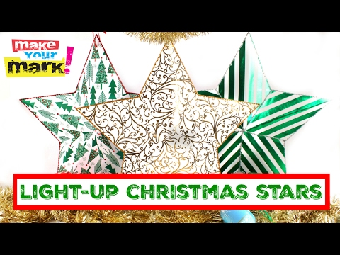 Light-Up Christmas Stars DIY