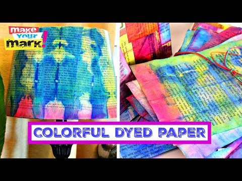 Make Colorful Dyed Paper