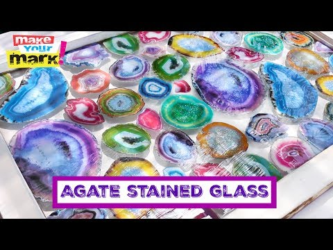 Geode DIY: Faux Agate Stained Glass - Allure Glitter, Glaze Coat