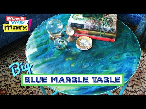 Big Blue Marble Table - Unicorn SPiT, Glaze Coat