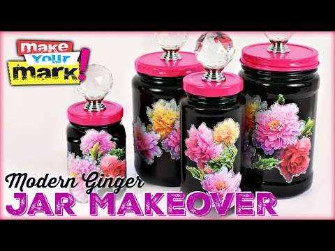 How to: Modern Ginger Jar Makeover, E6000, Allure Glitter, Spray Adhesive