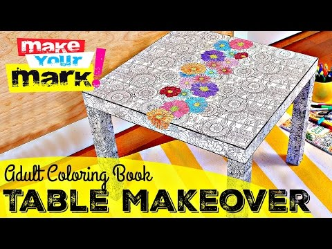 How to: IKEA Hack Table Makeover -E6000 Spray Adhesive