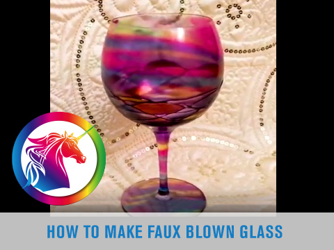 How to Make Faux Blown Glass