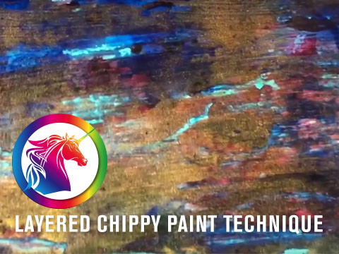 Layered Chippy Paint Technique