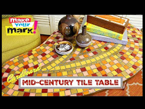 DIY Mid-Century Tile Table with Mark Montano, E6000, Glaze Coat