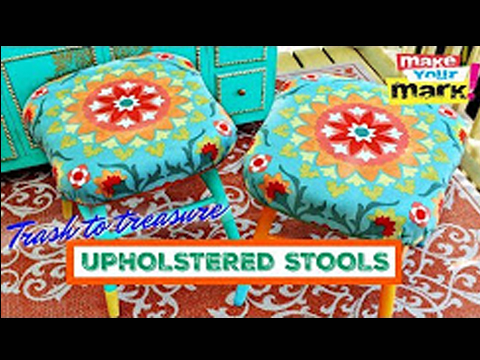 Trash to Treasure Upholstered Stools - Fabri-Fuse